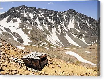 Mt. Wilson And El Diente Peak Canvas Print by Aaron Spong
