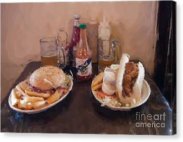 Muffaletta And Po-boy Canvas Print by Kay Pickens