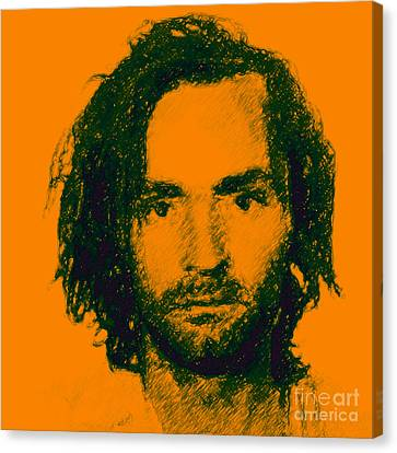 Mugshot Charles Manson P0 Canvas Print by Wingsdomain Art and Photography