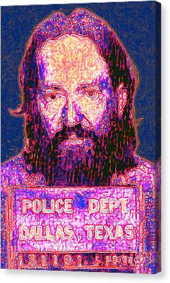 Mugshot Willie Nelson Painterly 20130328 Canvas Print by Wingsdomain Art and Photography