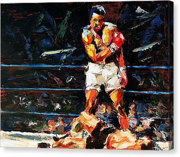 Muhammad Ali Canvas Print by Derek Russell