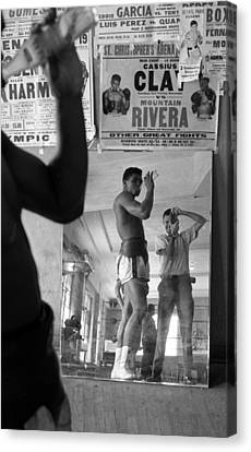 Muhammad Ali Drinking  Canvas Print by Retro Images Archive