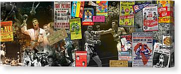 Muhammad Ali Panoramic Canvas Print by Retro Images Archive