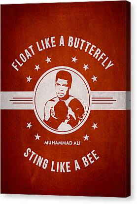 Muhammad Ali - Red Canvas Print by Aged Pixel