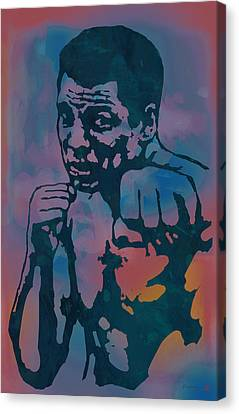 Muhammad Ali  - Stylised Etching Pop Art Poster Canvas Print by Kim Wang