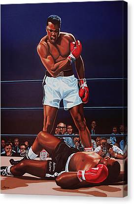 Muhammad Ali Versus Sonny Liston Canvas Print by Paul Meijering