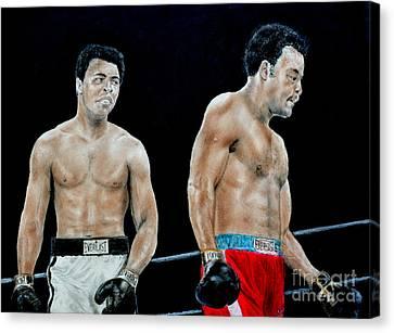 Muhammad Ali Vs George Foreman Canvas Print by Jim Fitzpatrick