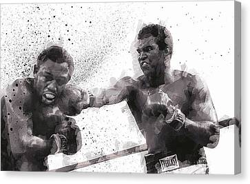 Muhammad Ali Vs Joe Frazier Canvas Print by Daniel Hagerman