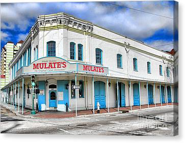 Mulates New Orleans Canvas Print by Olivier Le Queinec