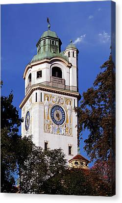 Mullersches Volksbad Munich Germany - A 19th Century Spa Canvas Print by Christine Till