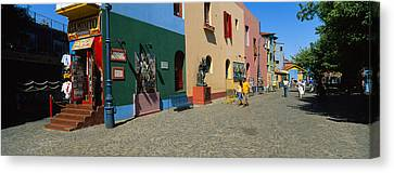 Multi-colored Buildings In A City, La Canvas Print by Panoramic Images