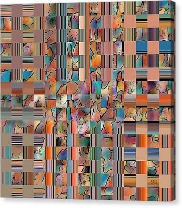 Multicolored Fractured Reality Canvas Print by Ben and Raisa Gertsberg