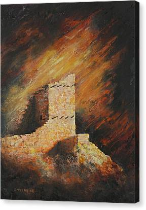 Mummy Cave Ruins 2 Canvas Print by Jerry McElroy