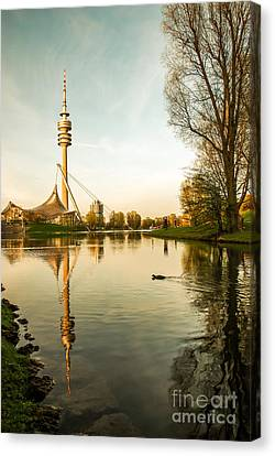 Munich - Olympiapark - Vintage Canvas Print by Hannes Cmarits
