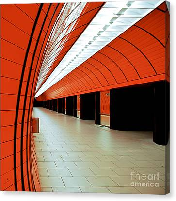 Munich Subway I Canvas Print by Hannes Cmarits