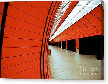 Munich Subway II Canvas Print by Hannes Cmarits