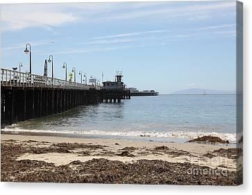 Municipal Wharf At The Santa Cruz Beach Boardwalk California 5d23766 Canvas Print by Wingsdomain Art and Photography