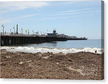 Municipal Wharf At The Santa Cruz Beach Boardwalk California 5d23769 Canvas Print by Wingsdomain Art and Photography