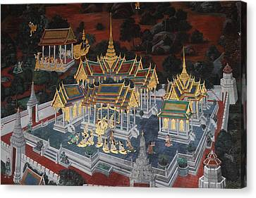Mural - Grand Palace In Bangkok Thailand - 01131 Canvas Print by DC Photographer