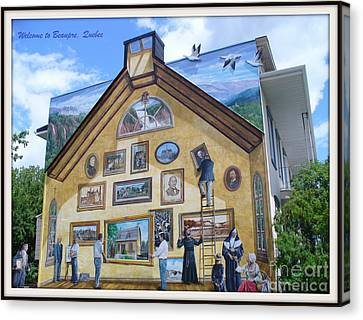 Mural In Beaupre Quebec Canvas Print by Lingfai Leung