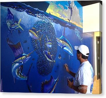 Mural In Stuart Canvas Print by Carey Chen
