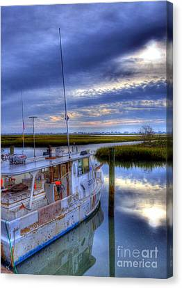 Murrells Inlet Morning Canvas Print by Mel Steinhauer