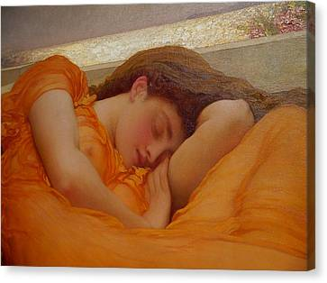 Museo De Ponce - Flaming June I Canvas Print by Richard Reeve
