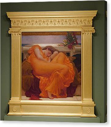 Museo De Ponce - Flaming June II Canvas Print by Richard Reeve
