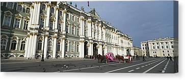 Museum Along A Road, State Hermitage Canvas Print by Panoramic Images