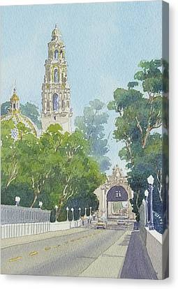 Museum Of Man Balboa Park Canvas Print by Mary Helmreich