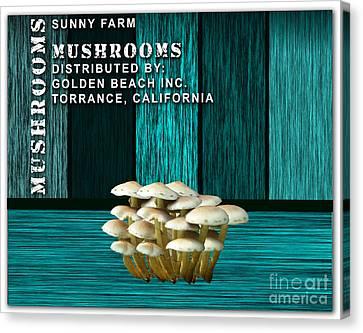 Mushroom Farm Canvas Print by Marvin Blaine
