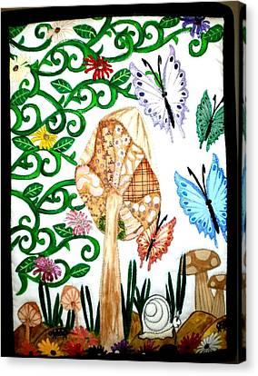 Mushroom Hunt Canvas Print by Linda Egland