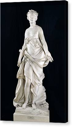 Music, 1757 Marble Canvas Print by Etienne-Maurice Falconet