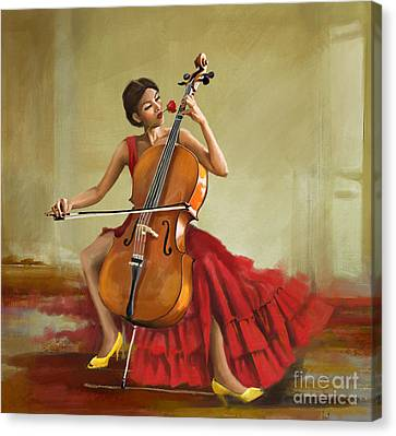 Music And Beauty Canvas Print by Corporate Art Task Force