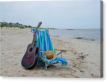 Music By The Sea Canvas Print by Bill Cannon