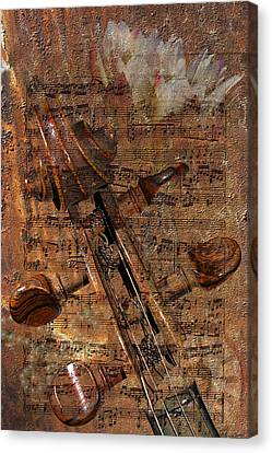 Music Collage Canvas Print by Phyllis Denton