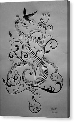 Music Equals Life Canvas Print by Christopher Kyle