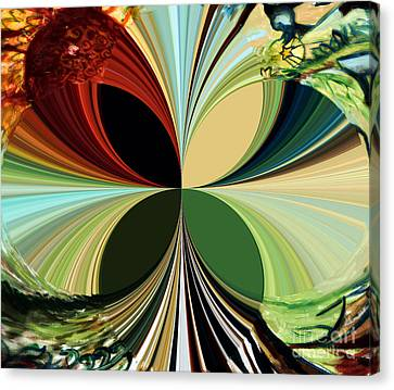 Music In Bird Of Tree Polar Coordinates Canvas Print by Genevieve Esson
