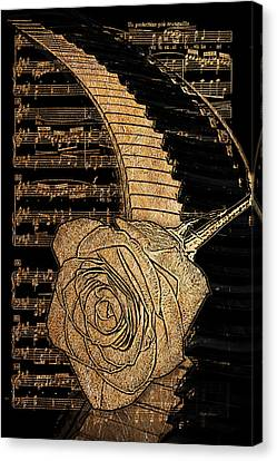 Music Is Golden Canvas Print by Phyllis Denton