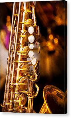 Music - Sax - Sweet Jazz  Canvas Print by Mike Savad