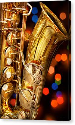 Music - Sax - Very Saxxy Canvas Print by Mike Savad