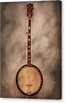 Music - String - Banjo  Canvas Print by Mike Savad