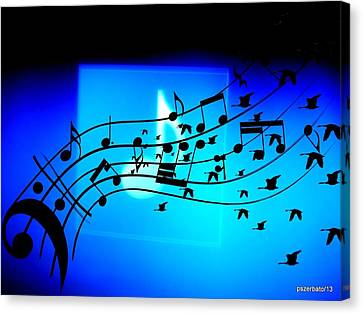 Music To Fly Canvas Print by Paulo Zerbato