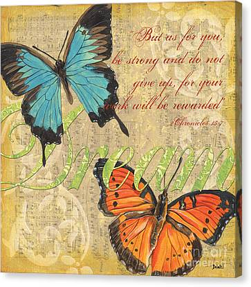 Musical Butterflies 1 Canvas Print by Debbie DeWitt