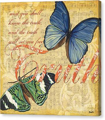 Musical Butterflies 3 Canvas Print by Debbie DeWitt