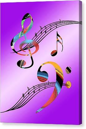 Musical Illusion Canvas Print by Gill Billington