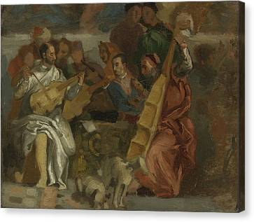 Musicians Canvas Print by Celestial Images