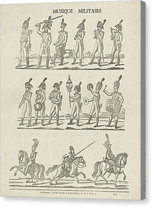 Musique Military, Philippus Jacobus Brepols Canvas Print by Philippus Jacobus Brepols