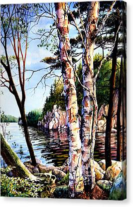 Muskoka Reflections Canvas Print by Hanne Lore Koehler