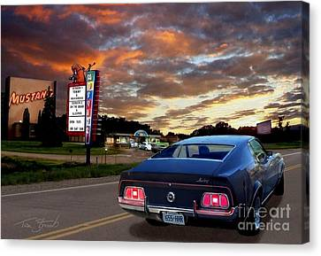 Mustang Muscle Canvas Print by Tom Straub